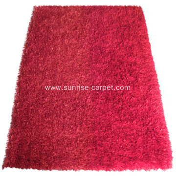 Polyester Stripe Shaggy Carpet Rug
